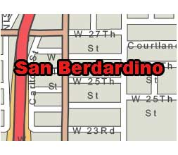 San Bernardino Ca Printable City Map Ai Pdf Format