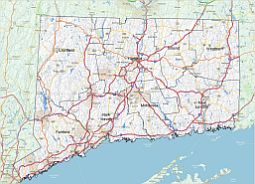 Editable Royaltyfree Map Of Connecticut CT In Vectorgraphic - Connecticut county map