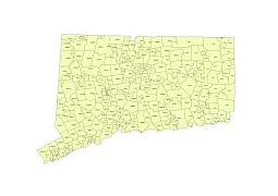 Preview Of Connecticut State Zip Codes Vector Map