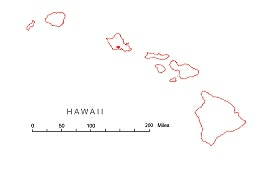 Preview Of Hawaii State Free Map Ai Pdf Jpg Files