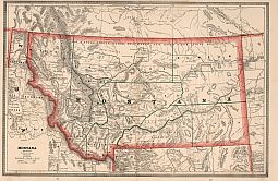 Montana Antique Map 1883 Non Vector 2994 1779 Px Free