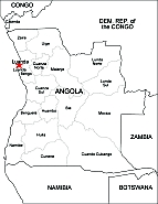 Editable Royaltyfree Map Of Angola In Vectorgraphic Online Store - Angola provinces map