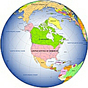 Editable Royaltyfree Map Of America Continent Map In Vector - Globe of usa