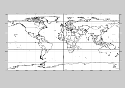 Editable royalty free map of 144 free vector world maps in vector world outline with graticules ai cdr pdf eps wmf svg file gumiabroncs Images