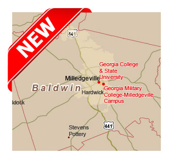 Editable Royaltyfree Map Of Georgia GA In Vectorgraphic Online - Georgia map milledgeville