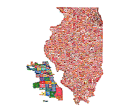 Editable Royaltyfree Map Of Illinois In Vectorgraphic Online Store - Illinois in us map