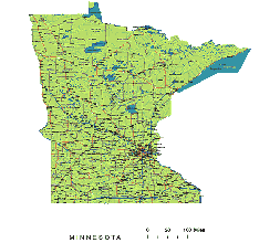 Editable Royaltyfree Map Of Minnesota MN In Vectorgraphic - Maps of minnesota