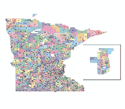 Editable Royaltyfree Map Of Minnesota MN In Vectorgraphic - Minnesota us map