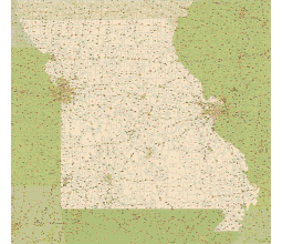 Editable royaltyfree map of Missouri MO in vectorgraphic online
