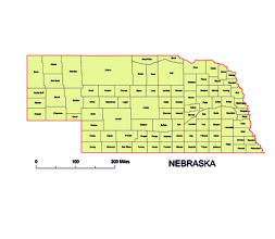 Preview Of Nebraska County Map Ai Pdf Eps Wmf Cdr Pptx Jpg File