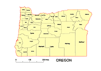 Editable Royaltyfree Map Of Oregon OR In Vectorgraphic Online - Us map ai