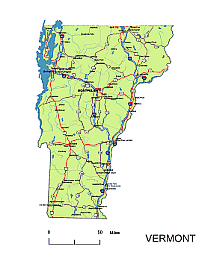 Vermont State Vector Road Map Lossless Scalable AIPDF Map For - Us highway map pdf