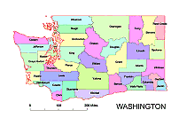 Washington County Map Colored