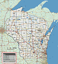 Editable Royaltyfree Map Of Wisconsin WI In Vectorgraphic - Us map wisconsin state