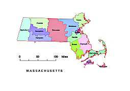 Editable Royaltyfree Map Of Massachusetts MA In Vectorgraphic - Us map ai